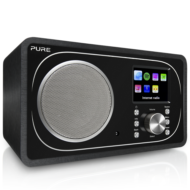 Una internet radio di Pure che consente l'ascolto delle web radio, oltre a FM, DAB+ e Spotify Premium