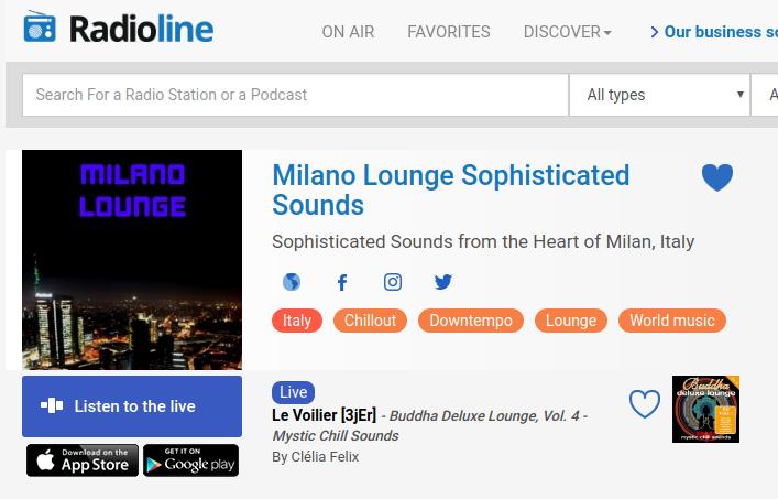 Milano Lounge adesso disponibile sul sito e sulle apps Radioline